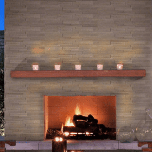 Fireplace - Gray Oak 3D Honed