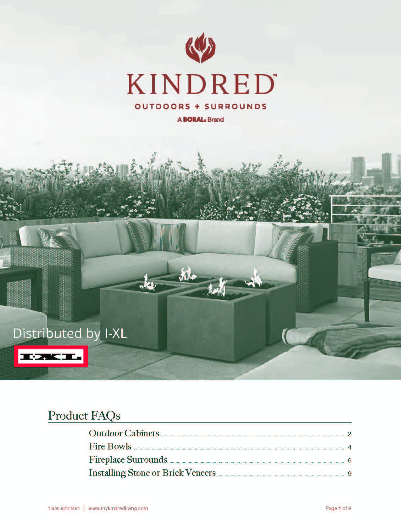 Kindred Outdoor & Surrounds Product FAQs